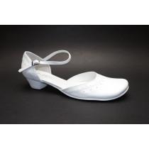 Letní vycházková obuv, De-Plus, šíře G 1/2, bílá,
