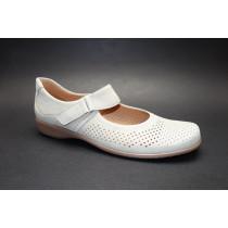 Letní vycházková obuv, Ara, Andros-Tr, šíře H, šedobéžová
