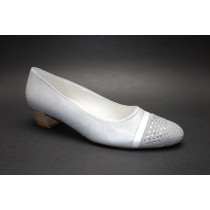 Vycházková obuv-lodičky, Gabor, šíře G, stříbrná