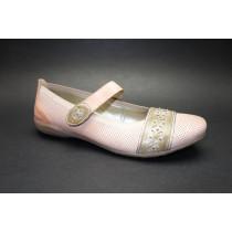 Vycházková obuv-baleríny, Remonte, růžovo-hnědá