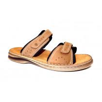 Letní vycházkové pantofle-flexiblová obuv, Josef Seibel, Max 01, hnědo-černá