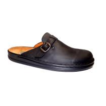 Letní vycházkové pantofle-flexiblová obuv, Helix, šíře H, černá