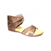 Letní vycházková obuv, Rieker, hnědá