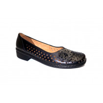 Letní vycházková obuv-flexiblová, Ara, Rhodos-Ang, šíře H, černá