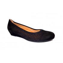 Letní vycházková obuv-lodičky, Gabor, šíře G, černá