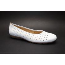 Letní vycházková obuv-baleríny, Gabor, bílá