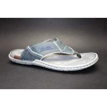 Letní vycházkové pantofle (žabky)-flexiblová obuv, Josef Seibel, Paul 39, šedomodrá
