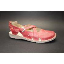 Letní vycházková obuv-flexiblová, Josef Seibel, Francesca 01, červená