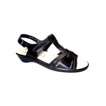 Letní vycházková obuv, Semler, Ute, šíře H, černá