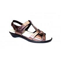 Letní vycházková obuv, Semler, Ute, šíře H, bronzová