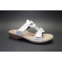 Letní vycházkové pantofle-flexiblové, Ara, Hawaii, šíře G, šedo-stříbrná