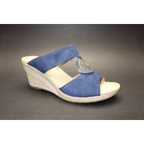 Letní vycházkové pantofle, Gabor, šíře G, modrá