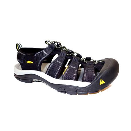 Letní turistická obuv pro středně náročný terén, Keen, Newport H2, černo-žlutá