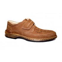 Vycházková obuv-flexiblová, Ara, Guido, šíře K, cafe