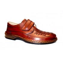 Vycházková obuv-flexiblová, Ara, Guido, šíře K, přírodní