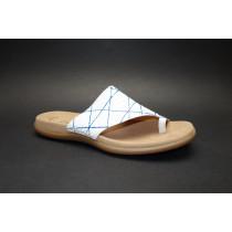 Letní vycházkové pantofle, Gabor, bílo-modrá