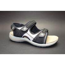 Letní vycházková obuv, Romika, Olivia 02, černo-šedá