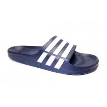 Plážová obuv, Adidas, Duramo Slide, tmavě modro-bílá