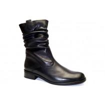 Zimní vycházková obuv-polokozačky, Gabor, šíře G, černá